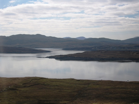 VIEW FROM TOP OF HILL TO BERNERA